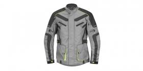 textilní moto bunda 4Square Discovery šedá/žlutá