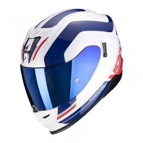 integrální přilba Scorpion EXO 520 Air Lemans bílo/modro/červená