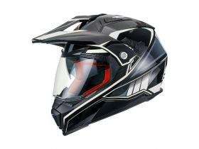 enduro přilba Maxx FS 606 černá/bílá/šedá