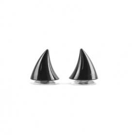 rohy na přilbu černé - malé