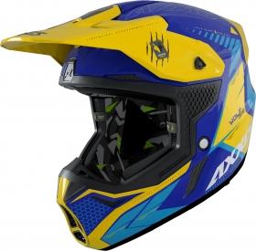 motokrosová přilba Axxis Wolf matná modrá