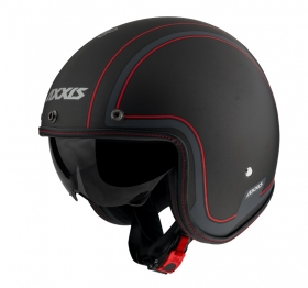 otevřená helma Axxis Hornet SV matná černo/červená