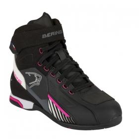 dámské boty na moto Bering Lady Tiger bílá/černá/růžová