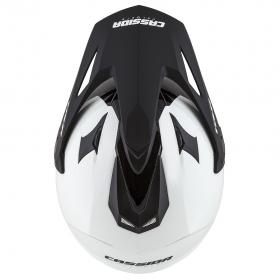 enduro přilba Cassida Tour 1.1 Dual bílá/černá