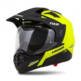 enduro přilba Cassida Tour 1.1 Dual žlutá fluo/černá
