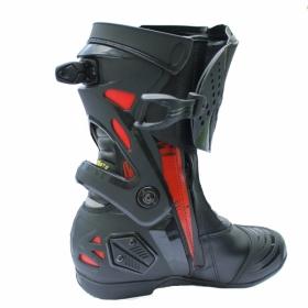 boty na motorku Racing Boot R19 černá/červená